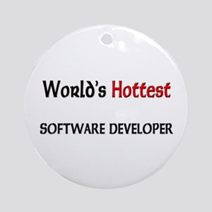 World's Hottest Software Developer Ornament (Round